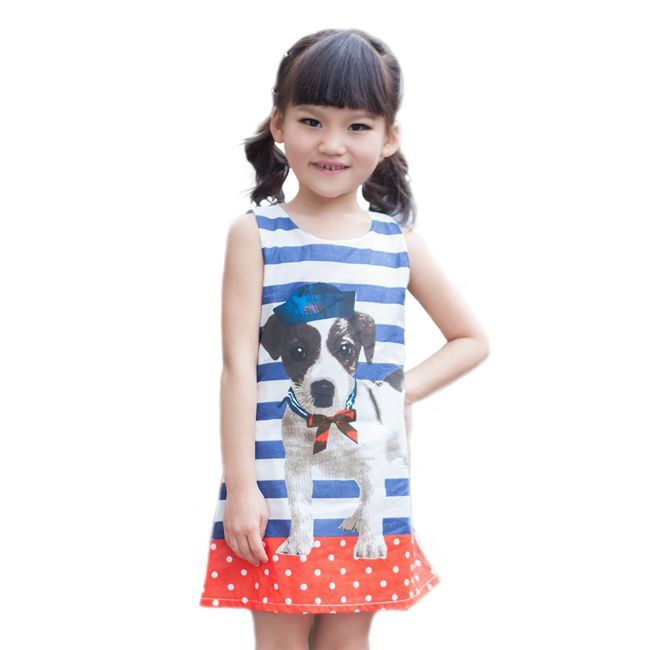 sweet outfits 3D Puppy/Rabbit/Elephant baby girls dress A-line summer dress all for children's clothing accessories 24M~-9T(China (Mainland))