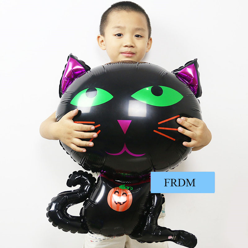 70cm black balloons marie cat party decoration supplies cat toys inflatable foil helium children kids halloween balloons(China (Mainland))