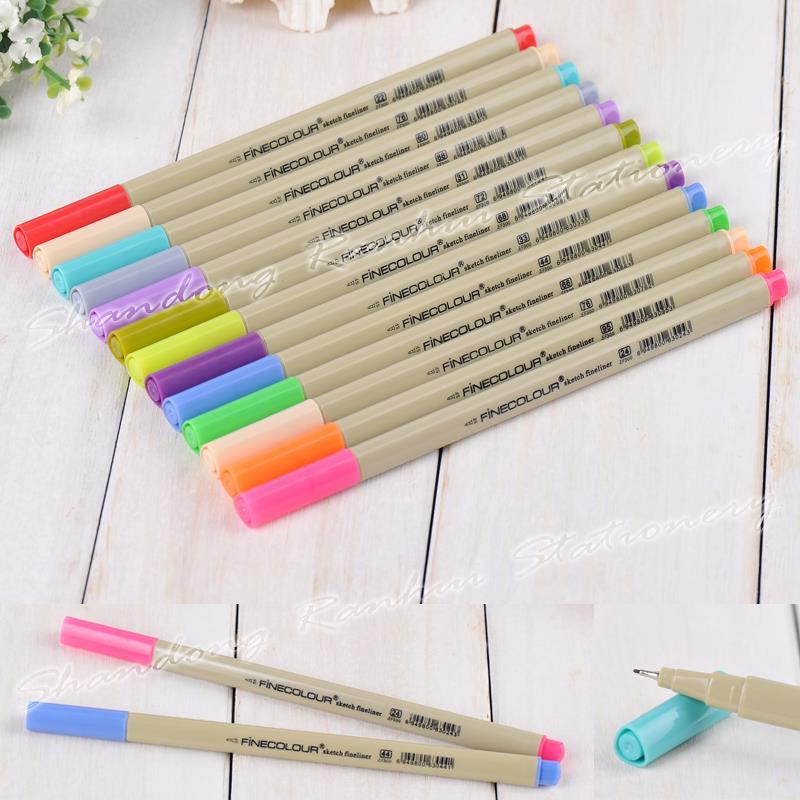 Гаджет  48 P Colors Fineliner Pens Marker Pen 0.3mm Minuteness Sketch Art Marker Water Pen copic markers Drawing Pens Brush Stationery None Офисные и Школьные принадлежности