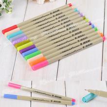 48 P цвета Fineliner ручки маркер 0.3 мм малость эскиз искусство маркер воды ручка copic маркеров рисования ручки кисть канцелярские