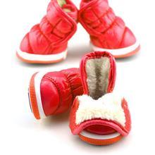 Kaliteli Kat Tasarım Kış Köpek Ayakkabı Deri köpek ayakkabıları Sıcak moda ürünü Soğuk Rahat Cilt dostu Pet köpek çizmeleri(China)