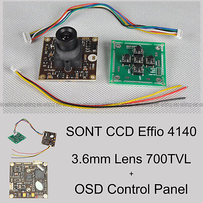 FPV 700TVL Sony Super HAD II CCD WDR Board Camera+OSD Control Panel+3.6mm lens(China (Mainland))