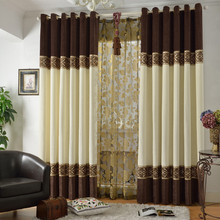 Cortina Hot Home Decoration Quality Chinese Style Blinds Shades & Shutters Chenille Cloth Bedroom Curtains For Window(China (Mainland))