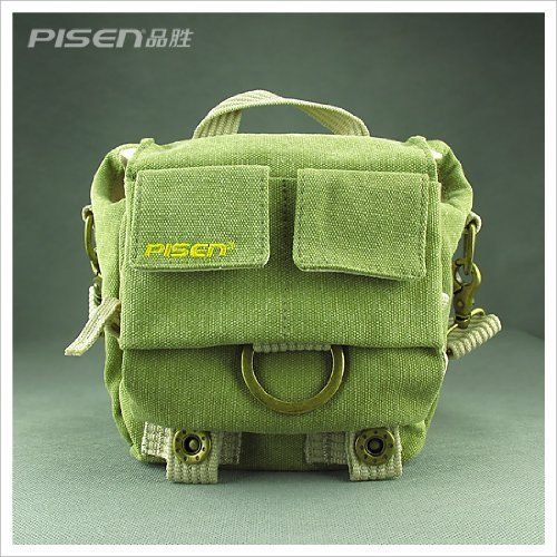 Green Shoulder Canvas Camera Bag/deluxe Photo/video Camera Gadget Bag for Canon Nikon Sony Panasonic Fuji Digital Cameras