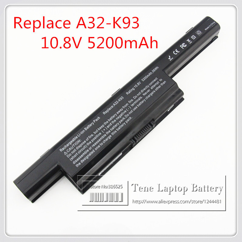 10.8V 5200mAh replacement laptop battery A32-K93 For ASUS A93 A95 K93SM Notebook Free shipping A32-K93 A41-K93 A42-K93 bateria(China (Mainland))