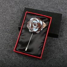 Fatti a mano Spilla Spille Collare Spilli Del Fiore della Rosa Smoking del Vestito Corpetto Boutonniere di Cerimonia Nuziale Del Partito Delle Donne Degli Uomini Spille Spille I Regali di Imballaggio(China)