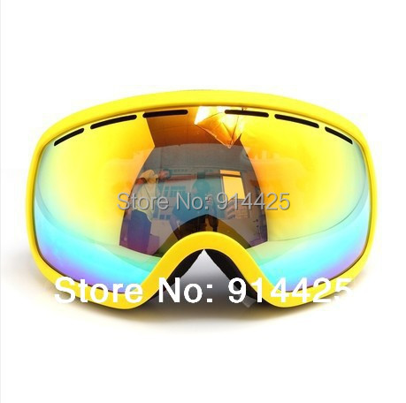 2016 Skiing Goggle Double Layer Anti-Fog Big Spherical Ski Eyewear Multicolor Women Wear Myopia Glasses Available Snow Goggle(China (Mainland))