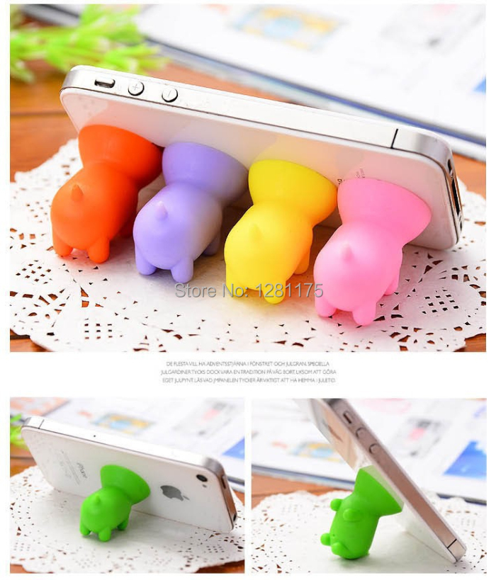 Universal Mobile Phone Holder Cute Piggy For iPhone 5s 4s For Samsung Galaxy S4 S5 Mobile Phone Mini Stand Stents(China (Mainland))