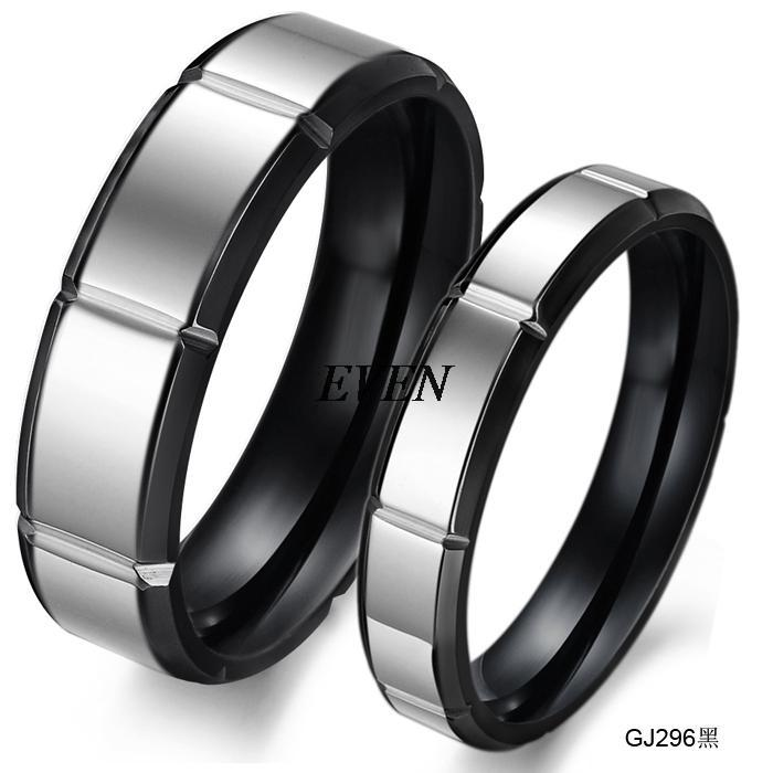 Wholesale Fashion Jewelry Titanium 316L Stainless Steel Vintage Brief Simple Promise Couple Wedding Lovers Rings(China (Mainland))