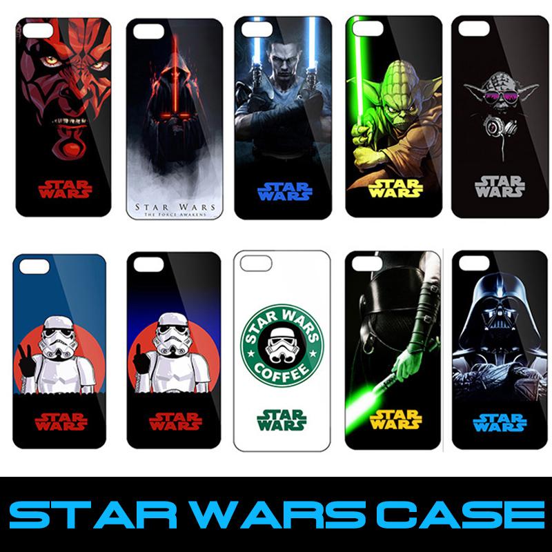 2016 Popular StarWars Hard Back Cover Case For iPhone 5 5s 6 6s phone hood capinhas skin Starwars Cover(China (Mainland))