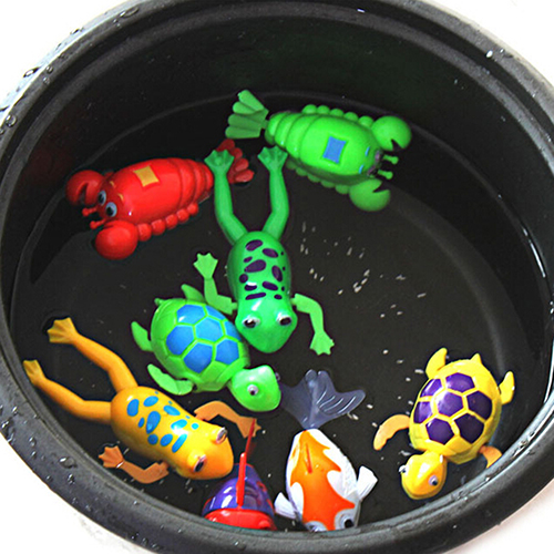 2016 New Baby Paddle Wash Bath Bathing Toy Wind-up Animals Toys Christmas Gift for<br><br>Aliexpress
