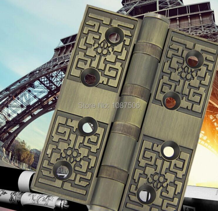 Free shipping Euro style Luxury HINGE high quality new design antique brass door hinges furniture hinge(China (Mainland))