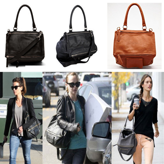 2015 Famous Brand Give Fashion Star Style Design Pandora Shoulder Bags Messeger Handbag Soft Lambskin Leather Bag Double Style(China (Mainland))