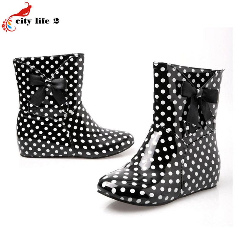 Black White Polka Dot Rain Boots Promotion-Shop for Promotional ...