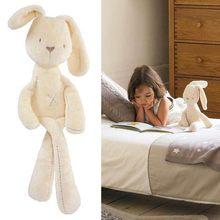 35*8cm Cute Bunny Baby Soft Plush Toys Mini Stuffed Animals Kids Baby Toys Smooth Obedient Sleeping Rabbit Doll(China (Mainland))