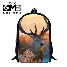 Buy Cool Elk Design school backpack children,christmas gift bookbags boys&girls,mens stylish lightweight women's back packs for $19.76 in AliExpress store