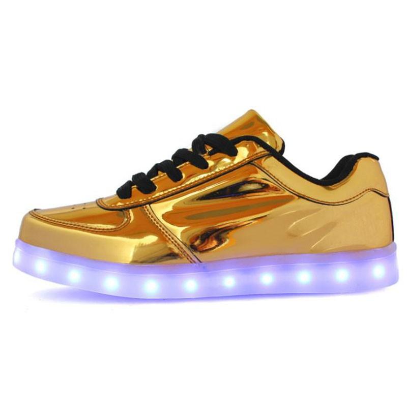 Yeni 2016 Rahat Aydınlık Ayakkabı Led Kadınlar Moda Schoenen Met Licht Yetişkinler Için Erkekler Ayakkabı Hombre Light Up Femme Chaussure Lumineu