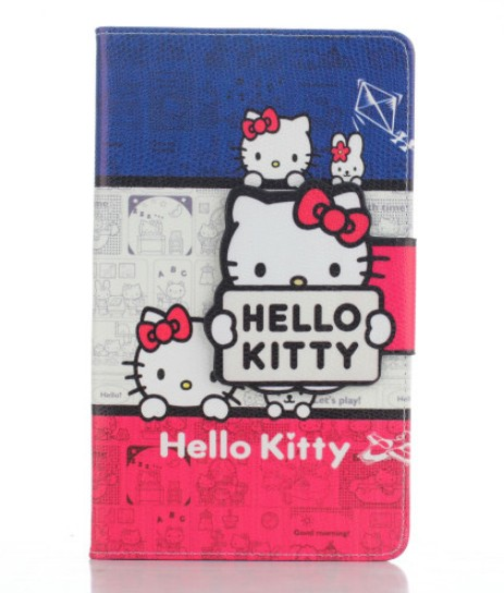 Samsung Galaxy Tab 4 8 inch tablet case,T330 T331 T335 cartoon hello kitty protective case stand soft cover - Ray 's Store store