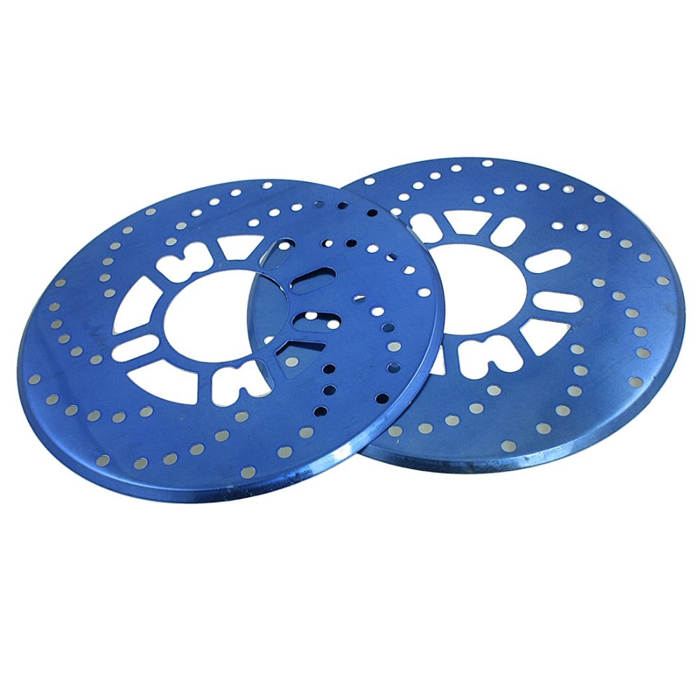Auto Car Replacement Blue Aluminum Disc Brake Rotor Covers 2 Pcs/lot(China (Mainland))
