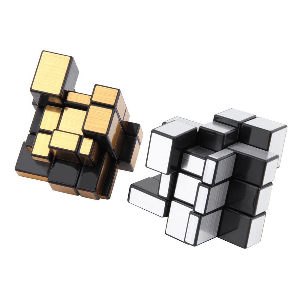 Hot! 3x3x3 Mirror Blocks Silver Shiny Magic Cube Puzzle Brain Teaser IQ Kid Funny Worldwide Great gift New Sale(China (Mainland))