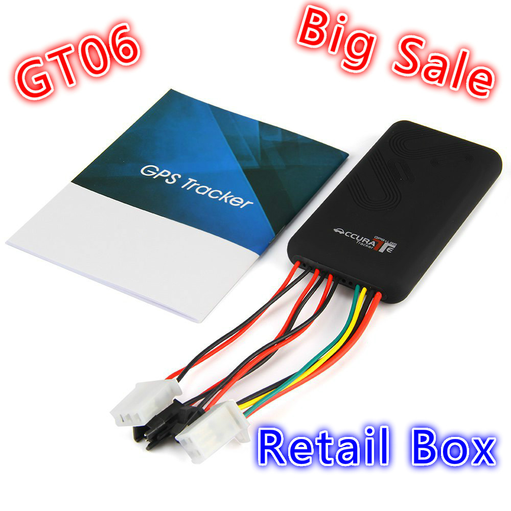 GT06 Mini Car GPS Tracker SMS GSM GPRS Vehicle Online Tracking System Monitor Remote Control Alarm for Motorcycle Locator Device(China (Mainland))