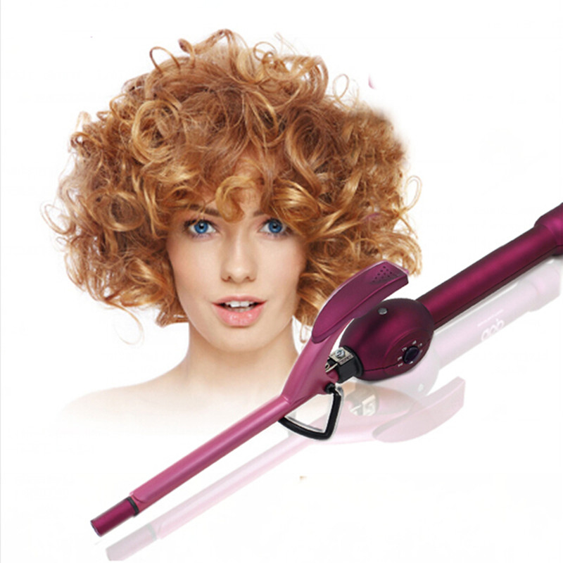 Christmas Gift Professionla Short Hair Curler Short Hair Styling Tools Mini 9mm Curler Diameter for Short Hair Man(China (Mainland))