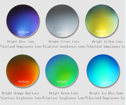 colored polarized sunglasses myopic lenses six colors