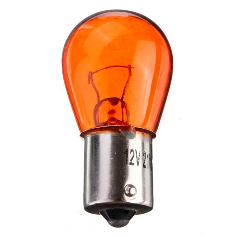 Lowest Price PY21W 1156 BA15S 581 Amber Yellow Car Auto Scooter Indicator Break Parking Turn Light Bulb Lamp 21W DC12V<br><br>Aliexpress