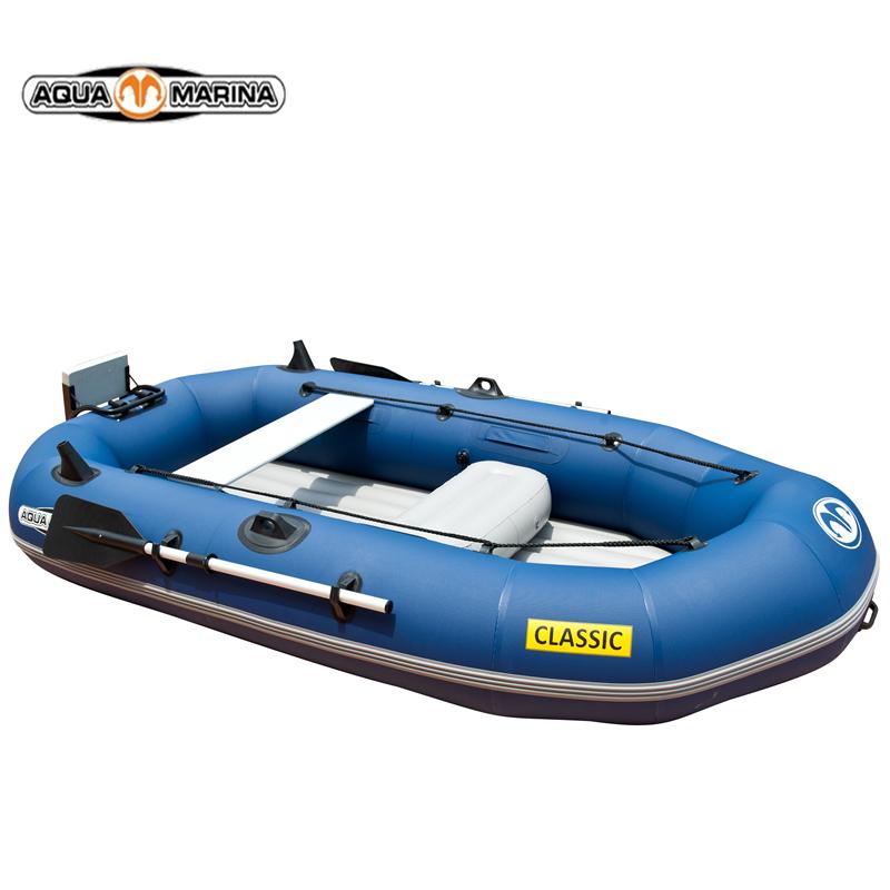 AQUA MARINA Le 2-3 draw genuine network folder kayak fishing boat inflatable boat thick rubber motor boat(China (Mainland))