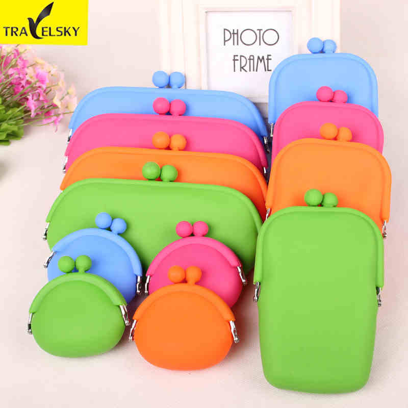 Silicone Purse Zero coin purse female key bag Glasses bag phone package 4 candy colors 1 pcs free shipping 16581 A size(China (Mainland))