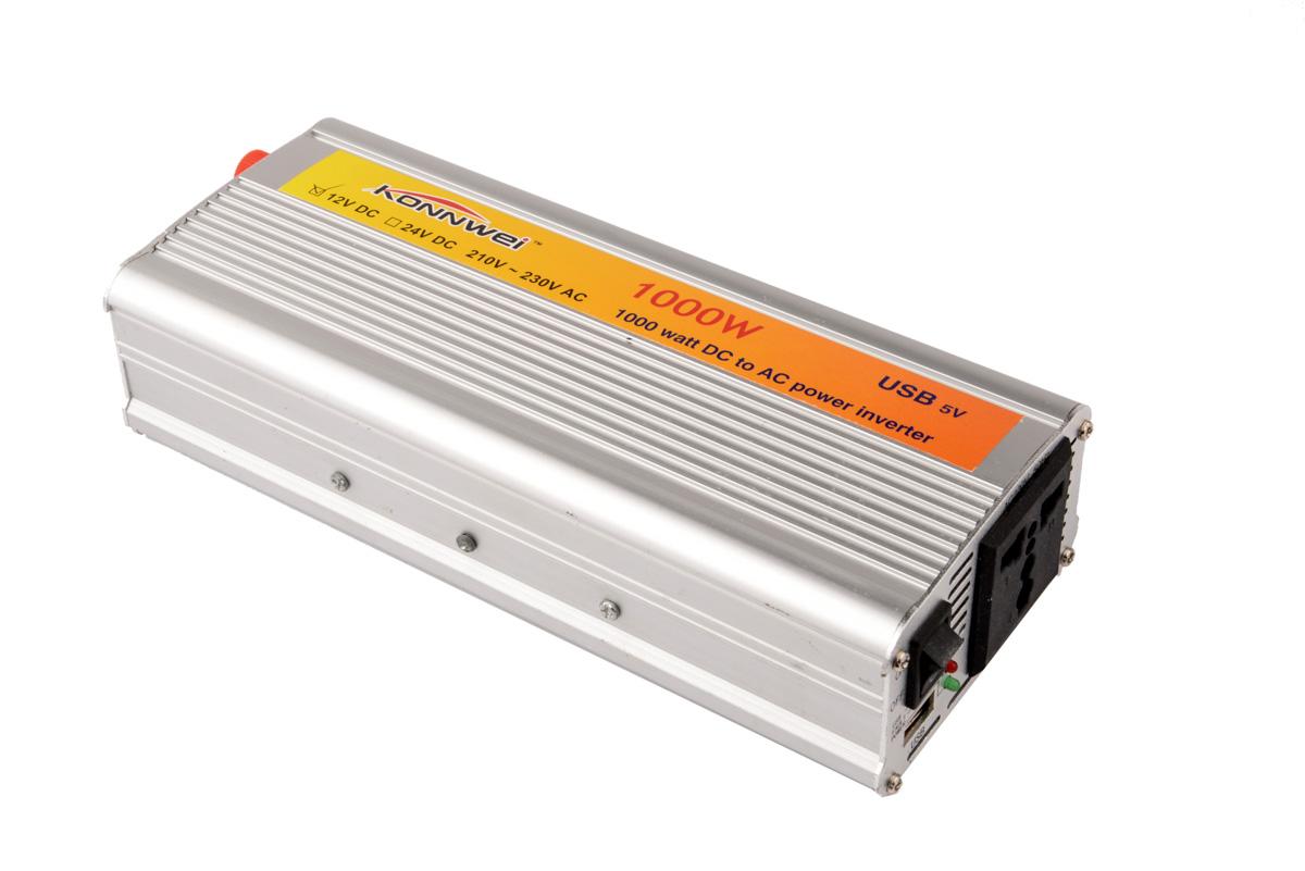 New 1pcs 12V DC to AC 220V Car Auto Power Inverter Converter Adapter Adaptor 1000W USB YA073(China (Mainland))