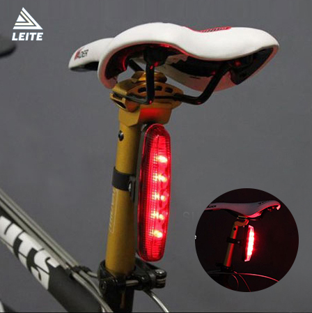 New High Power 5 LED 7 Mode waterproof Cycling Safety Bicycle Rear Lamp Bike Caution Rear