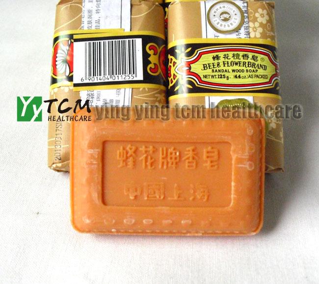wholesale Bee flower,sandalwood soap,bath soap125g/pcs Old China Shanghai brand(China (Mainland))