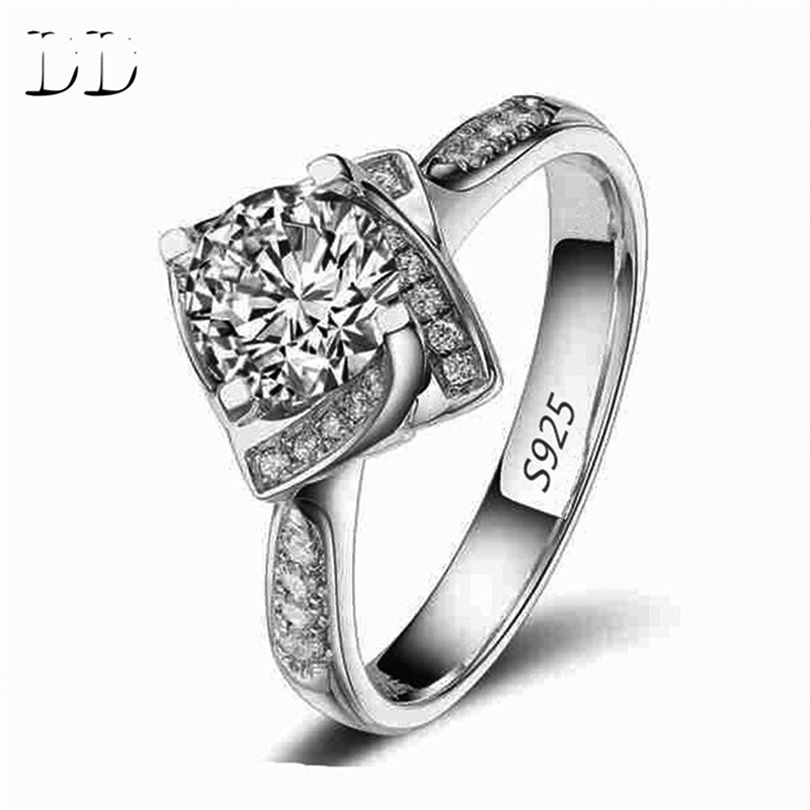High quality white gold plated wedding CZ Diamond Jewelry luxury bague trendy bijoux Engagement rings for women accessories D095(China (Mainland))