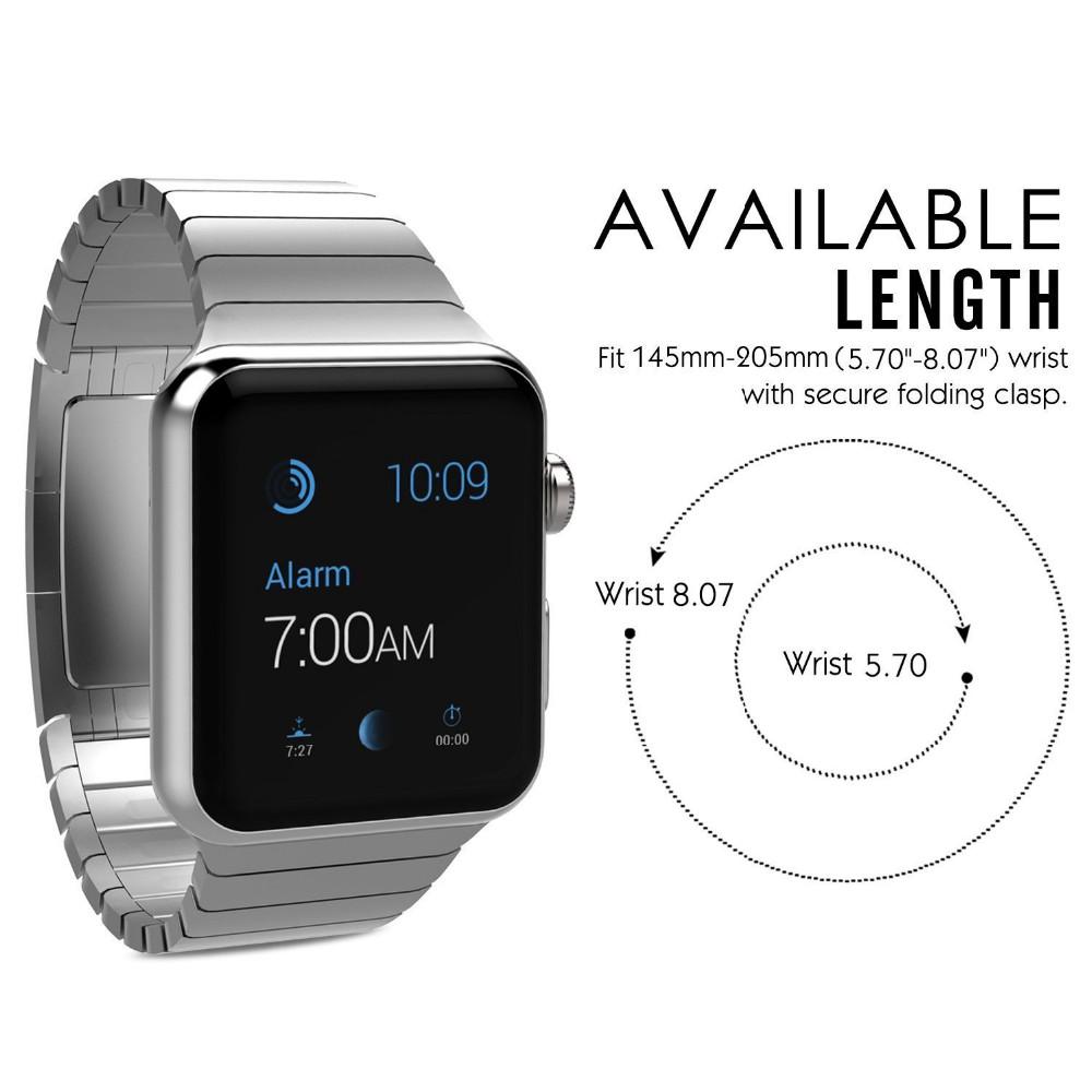 Цепь из нержавеющей Стали Форме Ремешок Оригинальная Застежка Для Apple Watch iwatch полосы серебра С Разъемом Адаптера 38mm42mm