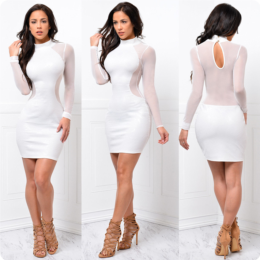 2016 New Summer Sexy Office Dress Women White Bandage Vestidos Party Evening Club Outfits Bodycon Dress Plus Size Vestidos(China (Mainland))