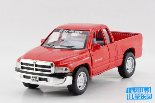 1PC 12.5cm Alloy car models dodge 1:44 pickup truck children's toys gifts(China (Mainland))