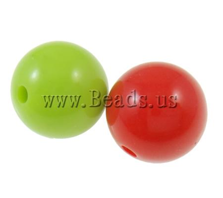 Free shipping!!!Solid Color Acrylic Beads,Jewelry Blanks, Round, mixed colors, 14mm, Hole:Approx 2.5mm, 5KG/Lot, Sold By Lot
