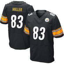 Men's #83 Heath Miller Elite Black Team Color Football Jersey 100% Stitched(China (Mainland))