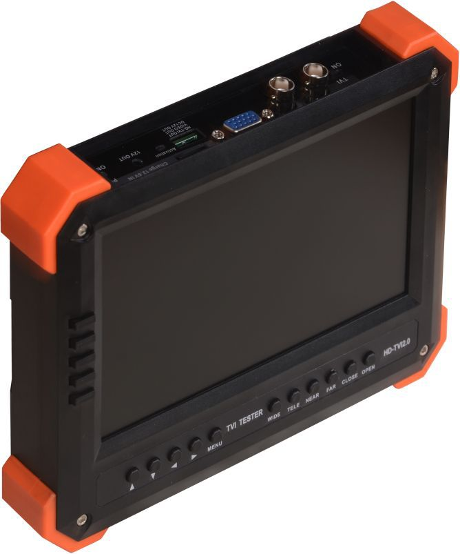 "New 7"" TVI camera tester CCTV tester monitor analog TVI camera testing VGA HDMI input 12V2A ouput(China (Mainland))"