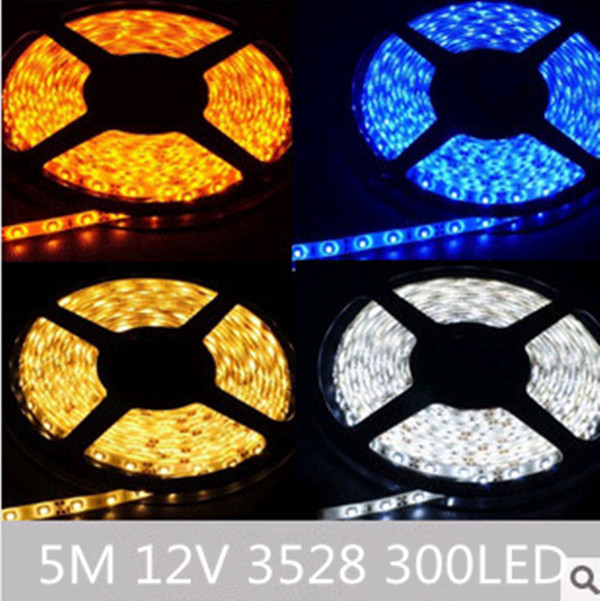 Taping Christmas Lights To Wall : 5M 3528 SMD 600 LED Ribbon Tape Roll Flexible Soft Strip Light Car Wall String Lamp Christmas ...
