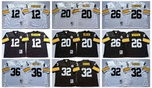 Pittsburgh s Terry Bradshaw Rocky Bleier LeVeon Bell Franco Harris Jerome Bettis Throwback for mens,camouflage(China (Mainland))