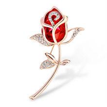 Vintage Bunga Mawar Tulip Bell Orchid Berlian Imitasi Pin dan Bros untuk Wanita Kerah Kerah Pin Lencana Bros Perhiasan Wanita(China)