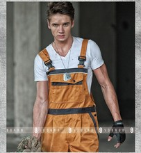 New High quality  Men's work overalls bib overall wear resisting twill workwear free shipping(China (Mainland))