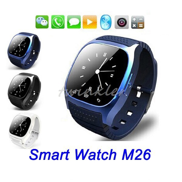 New rwatch smart watch M26 smartwatch android waterproof hot bluetooth watch Sync Phone Calls for Android Anti-lost(China (Mainland))