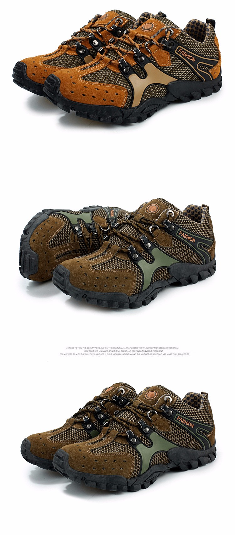 Outdoor Breathable Shoes Men Lightweight Walking Climbing Shoes Anti-skid Men Aqua Water Trekking Shoes Men (22)