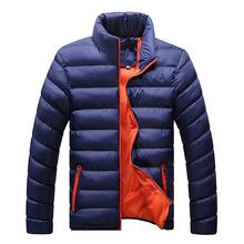 Homens jaqueta de inverno 2016 nova primavera mistura de algodão Mens jaqueta e casacos dos homens Outwear grosso casuais para homens além de roupas masculina 4XL