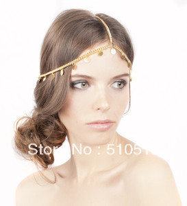 Britney Spear Gypsy Gold Coin Style Kesha Chain HeadPiece