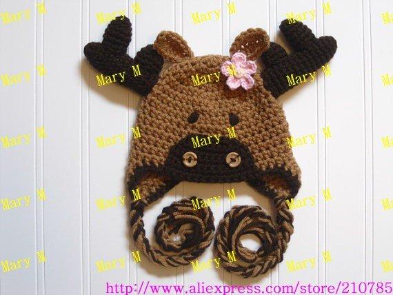 10 pcs/lot . Cartoon Designs Cotton Handmade Children Crochet Hat Animal baby Pikachu hat Kids cap Free shipping(China (Mainland))