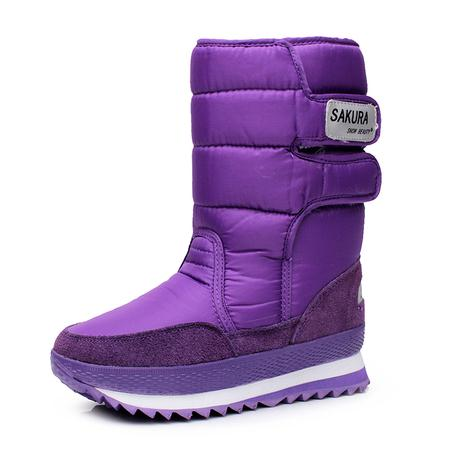 Perfect Women Mid Calf Snow Boots Non Slip Warm Thickening Cotton Shoes